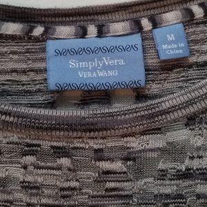 SIMPLY VERA | SHEER GRAY & BLACK LONG SL HI/LO TOP